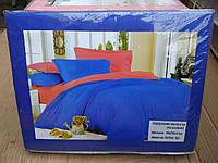 Белье постельное синего цвета