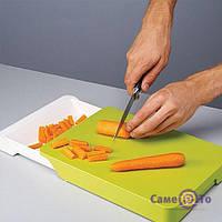 Обробна дошка - трансформер для продуктів Cut & Collect, 1000865, кухонні обробна дошка, обробна дошка-трансформер, обробна дошка з відсіком, кухонна