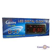 Електронний годинник Caixing CX-2158 з календарем і термометром, годинник з термометром, годинник з градусником, годинник з календарем,1001067
