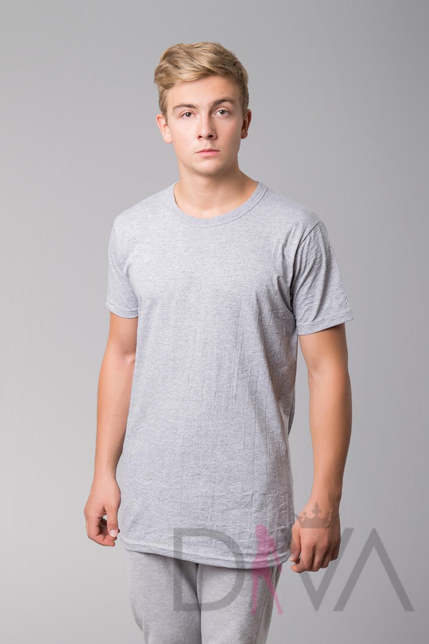 Недорогая серая футболка мужская MMB Турция SDK-F1grey