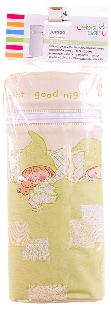 Термоконтейнер Ceba Baby Jumbo 70*80*230мм универсальный  беж-салатовый (гномики в постели)