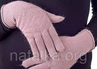 С чем носить вязаные рукавички?