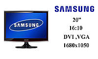"""Монитор 20"""" Samsung T200 LS20TWHSUV Черный 1680x1050 (к.3616)"""