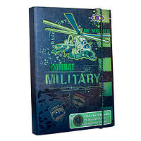 Папка для зошитів MILITARY, картонна, на гумках В5+