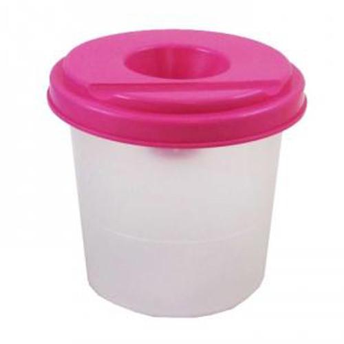 Стакан -непроливайка, рожевий
