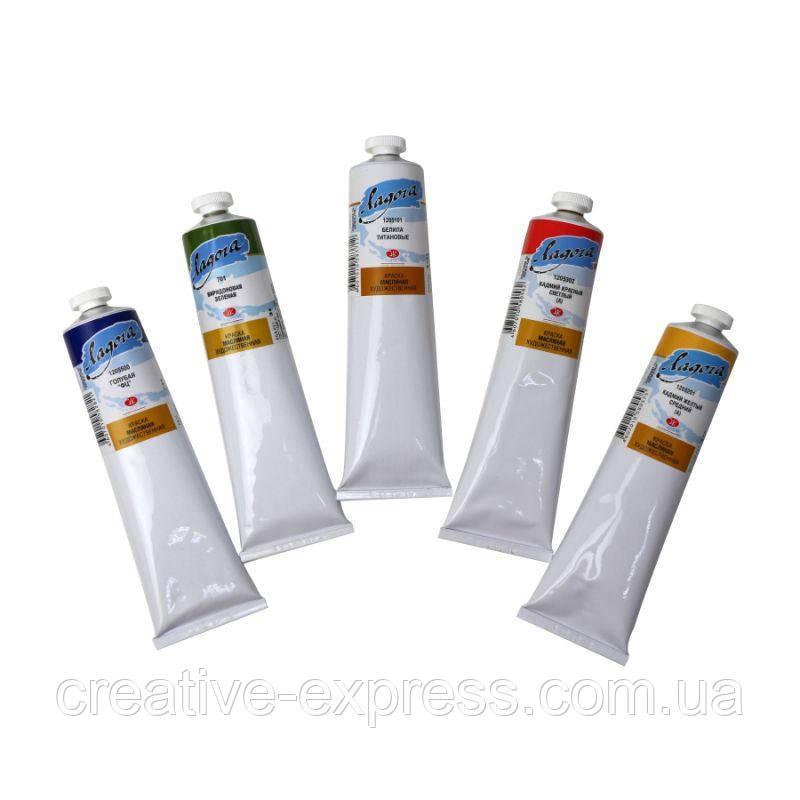 Фарба олійна, Кобальт синій середній (А), 120мл, Ладога