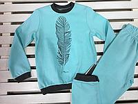 Пижама трикотажная для мальчика ТМ Робинзон хлопковая размер 116
