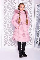 Пальто «Шейла» пудра рост 122-146, фото 1