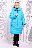 Пальто «Ангел», голубое рост 122-152, фото 1