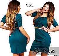 Платье сборка большие размеры код 54/41