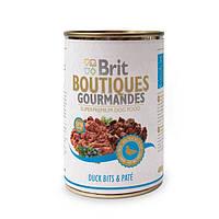 Консервы Brit Boutiques Gourmandes DuckBits&Pate 400 г*12 шт-кусочки утки в паштете для собак
