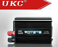 Инвертор автомобильный Inverter UKC SSK 300W, преобразователь напряжения, 1001869, преобразователь напряжения