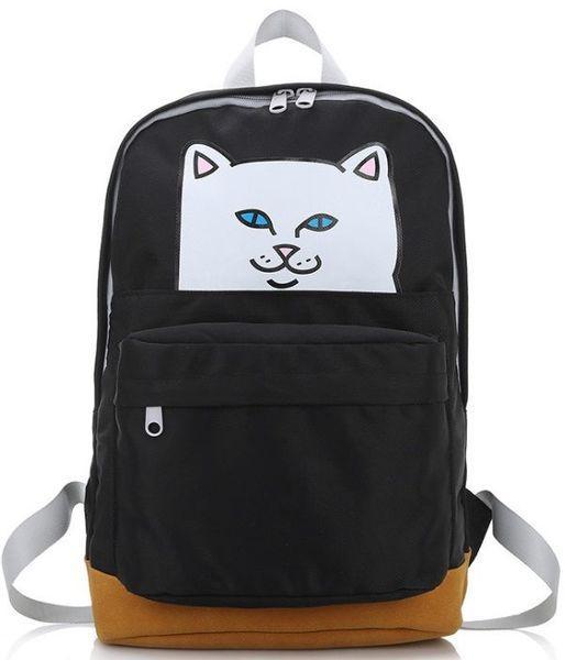 Рюкзак с принтом наглый кот.