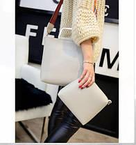 Стильная городская сумка с красочным поясом + клатч 2в1, фото 3