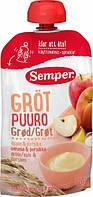 Безмолочная мультизлаковая каша Semper с яблоком и персиком (готовая к употреблению), 120 г