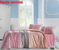 Комплект постельного белья ранфорс  Altinbasak евро размер Aleda pembe