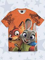 Детская футболка Зайка и лис