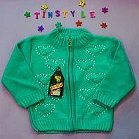 Красивая вязаная кофта  Милашка для девочки на 1-3 годика