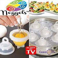 Форми для варіння яєць без шкаралупи «Eggies», 1000255, форми для варіння яєць, формочки для варіння яєць, посуд для варіння яєць, набір для варіння