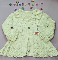 Красивая вязаная кофта-болеро  для девочки на 1-3 годика