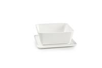 Чаша глибока квадратна 9,5х9,5xH3,5cm і блюдце 10х10см Spat