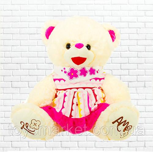Детская мягкая игрушка, плюшевый мишка Карамелька,розовая