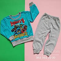 Детская пижама материал трикотаж хб с начесом  р,26,28,30,32