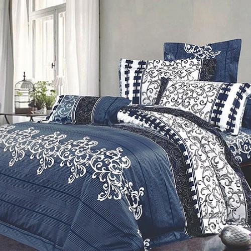 Комплект постельного белья двуспальный Вилюта ранфорс 8630 синий