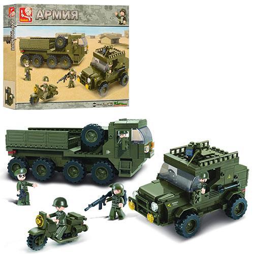 Конструктор SLUBAN M38-B0307  армия,военная техника,фигурки,455дет,в кор-ке,42,5-33-6,5см