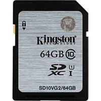 Карта памяти KINGSTON SDXC 64 GB G2 (CLASS 10) UHS-I