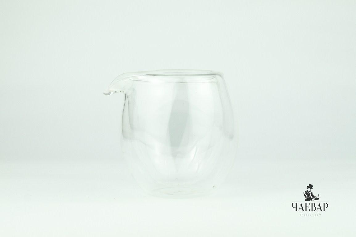 Пиала для чая, двойное стекло, 130 мл