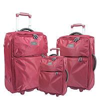 Чемодан  сумка текстильный на четырех колесах облегченный  Airtex Mimas 582