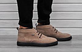 Мужские замшевые ботинки Zara на шнуровке