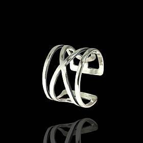 Серебряное фаланговое кольцо, 14мм