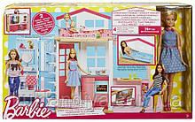 Портативный домик Барби / Barbie 2-Story House с куклой Mattel DVV48