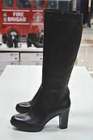 Сапоги черные кожаные на каблуке Roberta Lopes к.-513