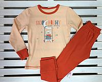 Детская трикотажная пижамка для девочки ТМ Фламинго рост 116, фото 1