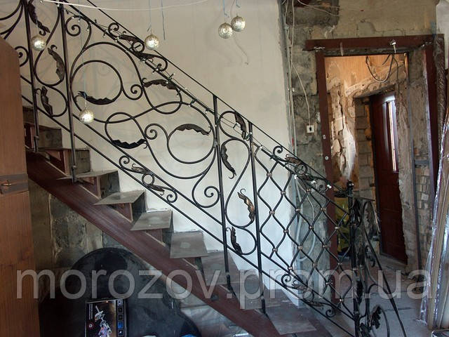 Кованые перила для лестниц арт.Lo.4 - ЧП Морозов в Киеве