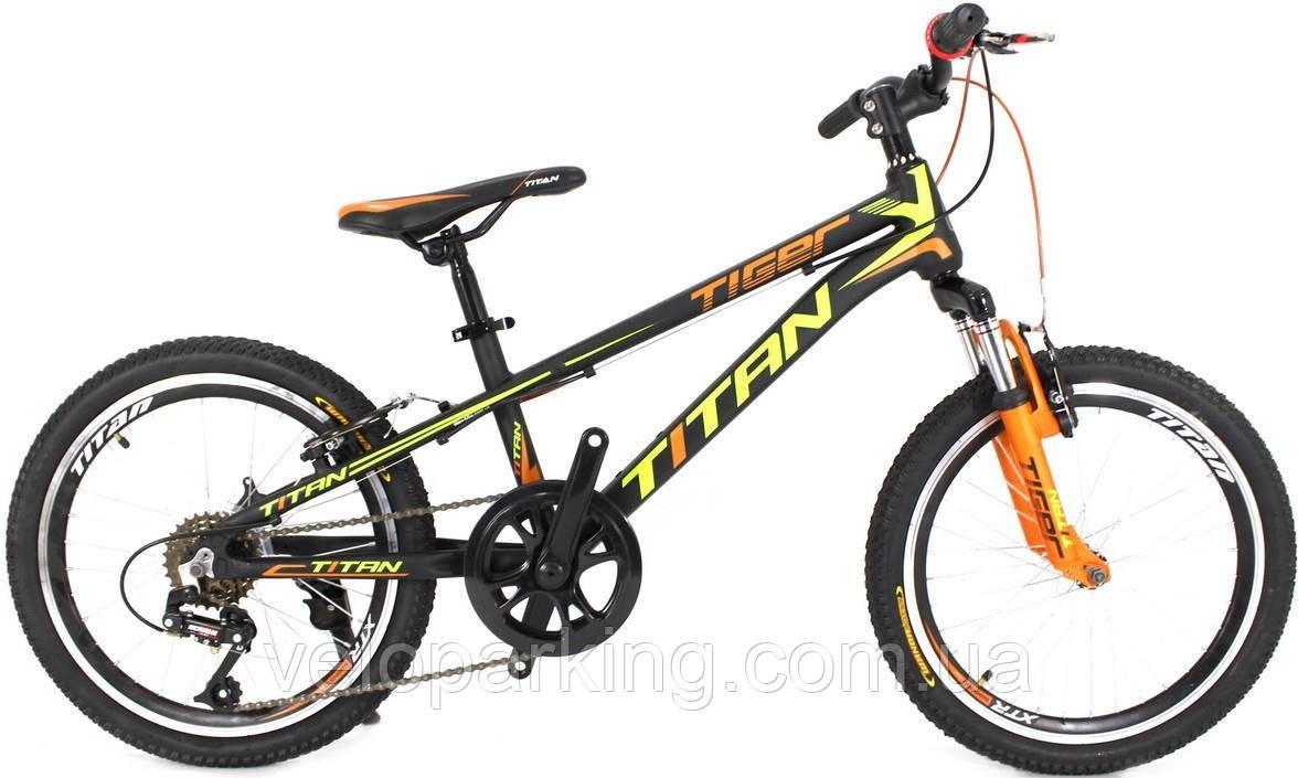 Горный спортивный детский алюминиевый велосипед Titan Tiger 20 (2018) new