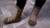 Женские вязаные носки-сапожки, ручная работа, в наличии.