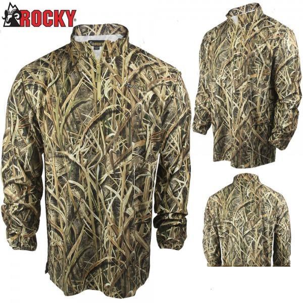 Пуловер легкий для охоты Rocky Waterfowler 1/4-Zip Shirt-Jac