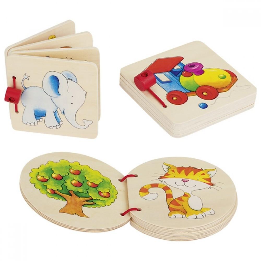 GOKI Книжка игрушка с картинками