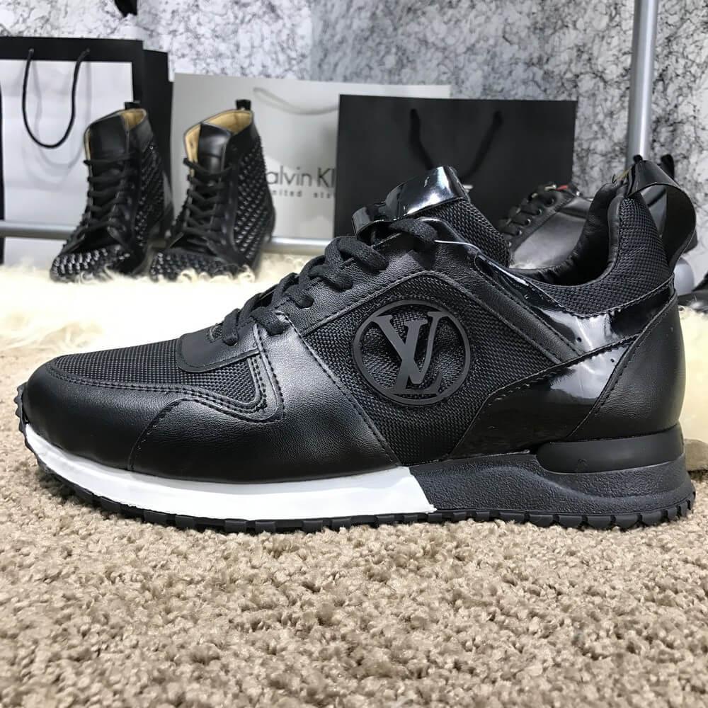 2bda0363b3d4 Мужские кроссовки Louis Vuitton Run Away Black, Копия - TopCross в Львове