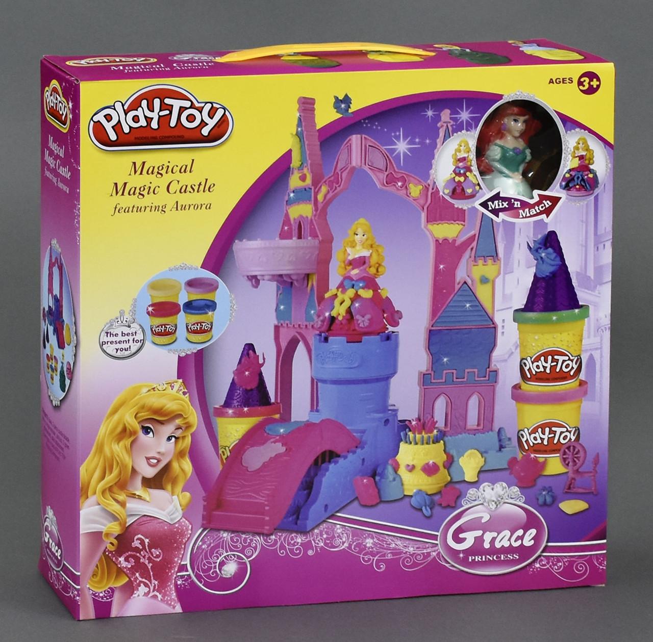 """Тесто для лепки SM 8021 """"Замок Принцессы"""" Play-Toy, пластилин"""