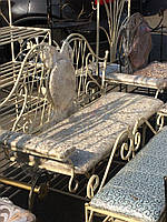 Полка диван со спинкой кованый в прихожую 130 см G-509