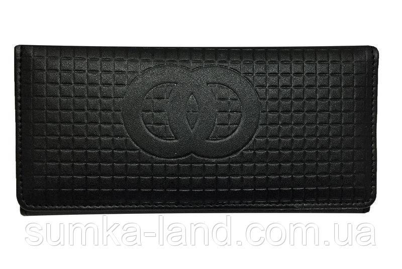 Женский черный бумажник двойного сложения