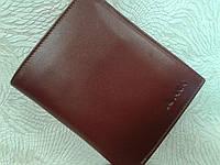 Кожаное портмоне мужское коричневое фирмы АКА