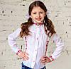 """Блузка - вышиванка для девочки """"Школьная"""" на рост от 116 до 146 см"""