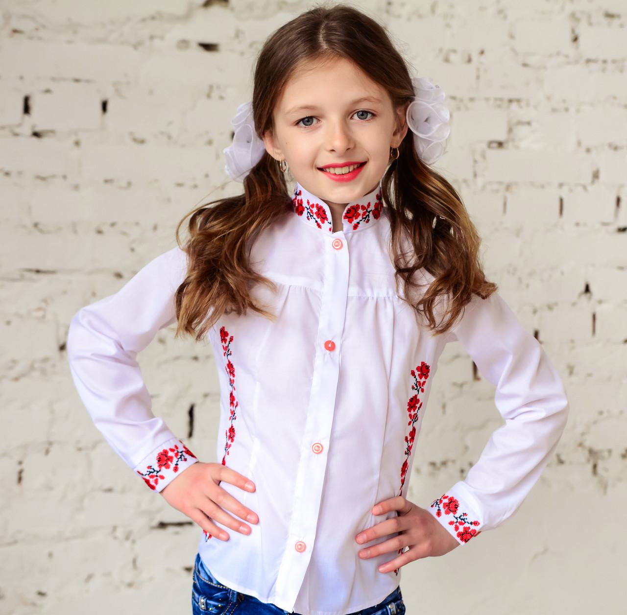 b3161624e52 Блузка - вышиванка для девочки