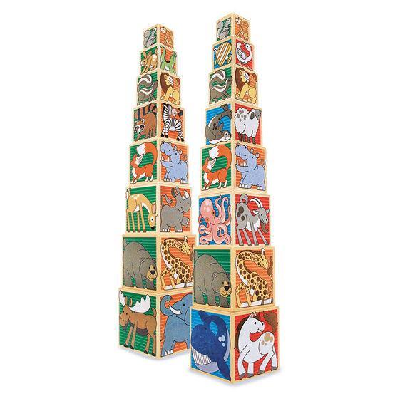 Набор деревянных блоков Melissa & Doug Животные (MD14207)